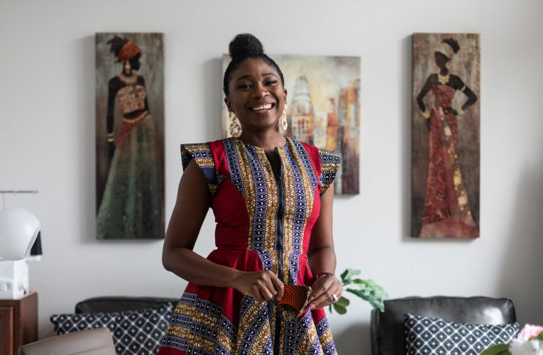 Appealing African Print Dress for Moms